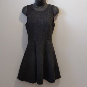 Joie fit & flare animal print dress small